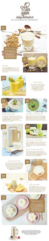 10 món cực ngon với máy làm sữa đậu nành