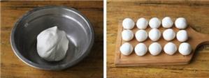 Bánh nếp tẩm đường xiên chiên giòn
