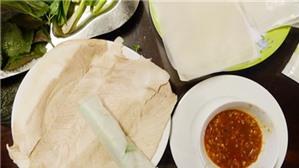 Bánh tráng thịt heo - món ngon Đà Nẵng