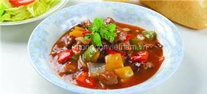 Bò xốt xí muội món ngon đưa cơm ngày mưa