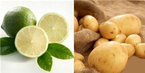 Da không còn nám chỉ với khoai tây và nước chanh